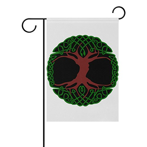 LEISISI Tree Of Life Png Garden Flag Polyester Outdoor Flag Home Party 28x40 inch -