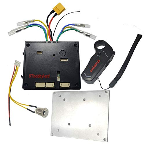 SThobbylord 36V Upgrade Dual Motor Drive ESC Electric Speed Controller for Outrunner Brushless Hub Motor & Wireless 2.4G Remote Control Transmitter for DIY Electric Skateboard ()