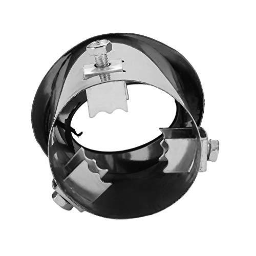 Recto y curva General Plata brillante Acero inoxidable Tubo de escape autom/ático Decorado Modificado Amortiguador de cola Cola de garganta