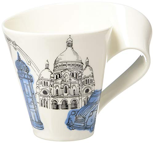 - New Wave Caffé Cities of the World Mug Paris By Villeroy & Boch - Premium Porcelain - Made in Germany - Dishwasher and Microwave Safe - Gift Boxed - 11.75 Ounce Capacity