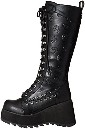 Vegan 107 Blk Scene Demonia Leather WARZCn