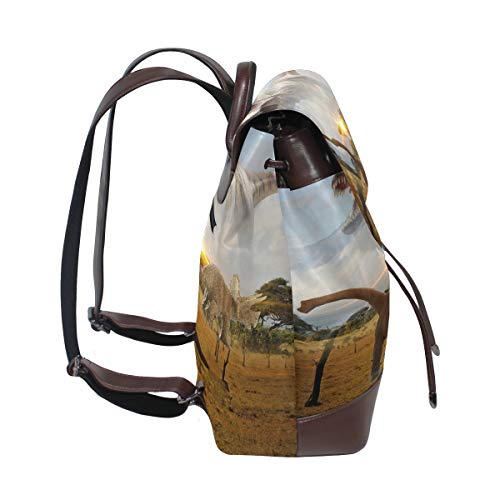Dinosaurie ryggsäck handväska mode PU-läder ryggsäck ledig ryggsäck för kvinnor