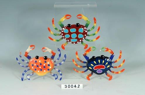 Set of 3 Decorative Metal Crab Wall Plaques