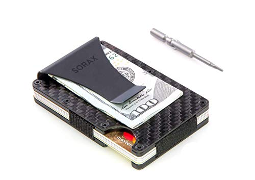 Carbon Fiber Wallet - Minimalist Wallet - Metal Wallet - RFID Blocking Slim Wallet - Credit Card Holder for Men - RFID Wallets