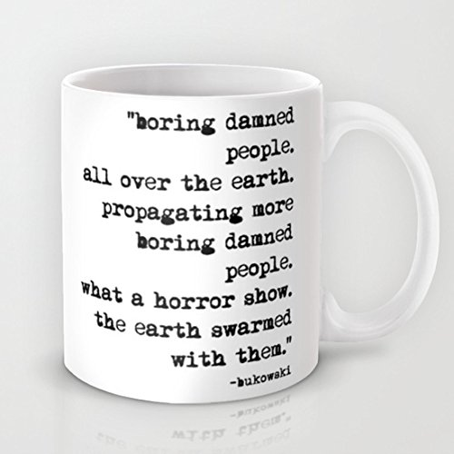 ¿Charles Bukowski de máquina de escribir antigua con texto en inglés personas taza de café Diseño de? ¿Café? ¿Taza? Regalo de cerámica taza de Material ...