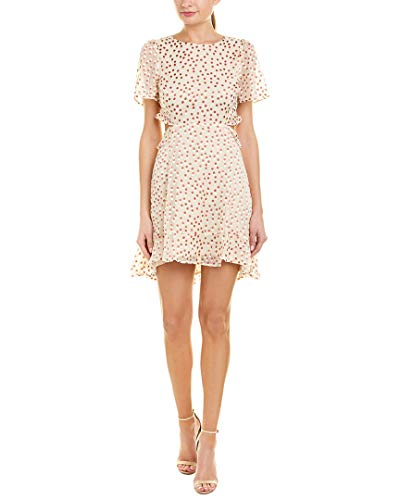 ASTR the Label Women's Elsie Dress, Cream/Clay Dot, Medium ()