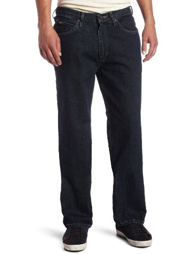Lee Men's Relaxed Fit Straight Leg Jean, Dark Quartz, 33W x 30L