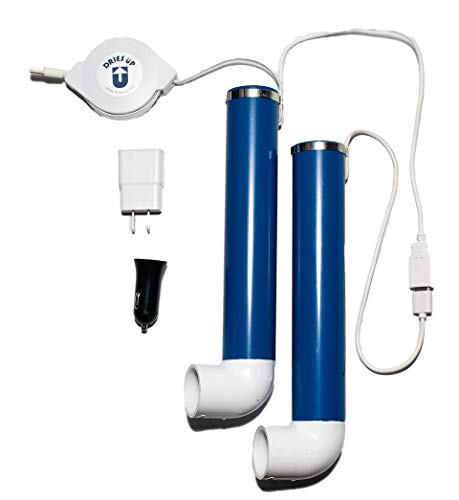 Dries Up USB Boot Dryer. Quiet. Portable. 9 ft. retractable USB cable. Great for cars and homes!