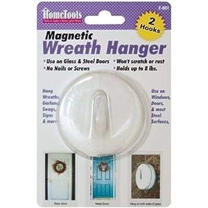 Magnetic Wreath Hanger 2-1/2″-White (F-901)