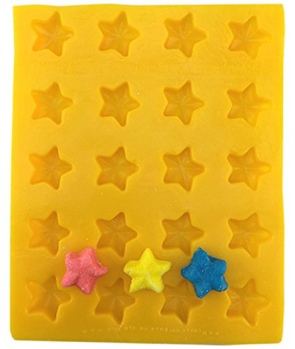 Yellow Rubber Mint Mold - Star Soft Candy Cream Cheese Mint Mold Yellow Flexible by Guttman