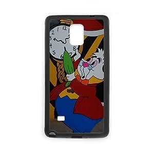 Samsung Galaxy Note 4 Cell Phone Case Black Disney Alice in Wonderland Character White Rabbit 001 YWU9261960KSL