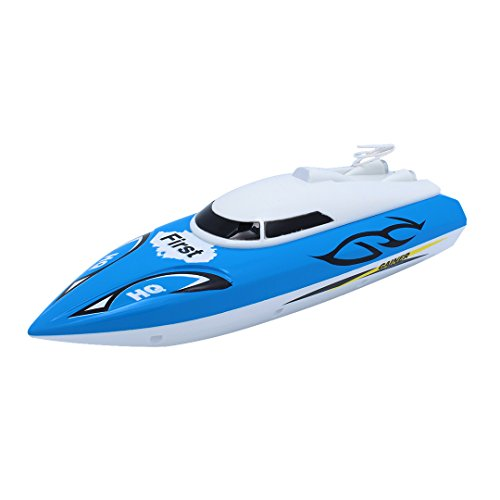 Multifit Toddler RC/Remote Control 4 Function High Speed RC Fast Boat for Kids Outdoor Sports(Blue) ()