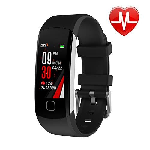 L8star Fitness Tracker, Continuous Heart Rate Monitor IP67 Waterproof Smart Activity Tracker with 6 Sports Mode,Sleep Monitor,Pedometer Smart Wrist Band for Women Men, Android iOS