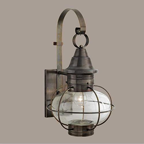 - Norwell Lighting 1609-GM-CL New Vidalia Onion - One Light Outdoor Large Wall Mount, Glass Options: Clear Glass, Choose Finish: GM: Gun Metal