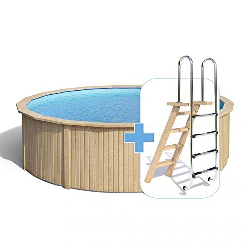 animalmarketonline Jardín Herramientas piscinas y accesorios piscina de madera Cooper con pared de acero con sistema de filtrado 460 x 120 cm - Estándar: ...