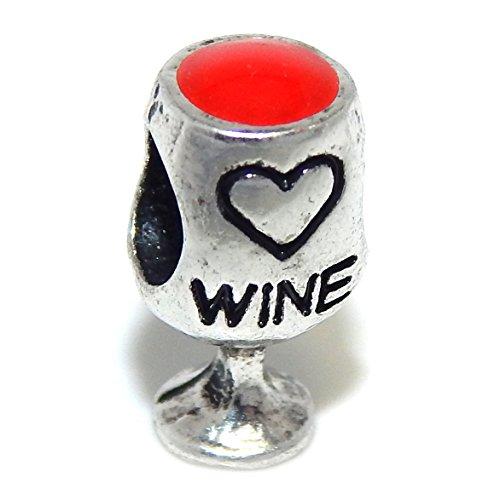 wine glass charms italian - 5