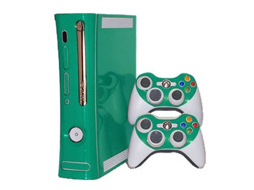 Microsoft Xbox 360 Skin (1st Gen) - NEW - TEAL TURQUOISE system skins faceplate decal mod (Turquoise Faceplates)