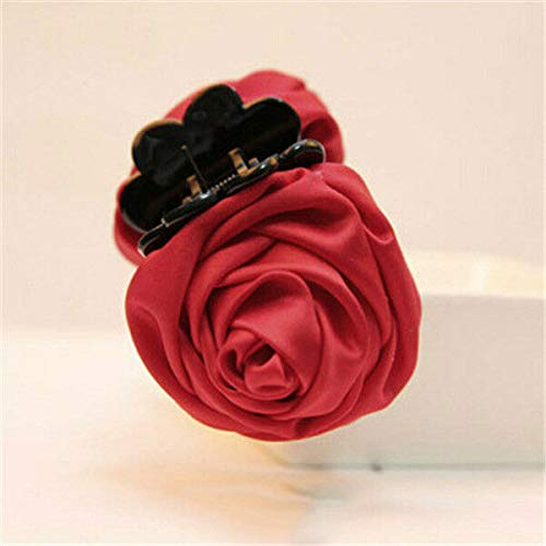 (Women Vogue Rose Flower Hair Clip Claw Comb Hairpin Clamp Accessory Headwear New (Colors - Red))