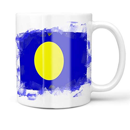 Neonblond 11oz Coffee Mug Palau Flag with your Custom Name