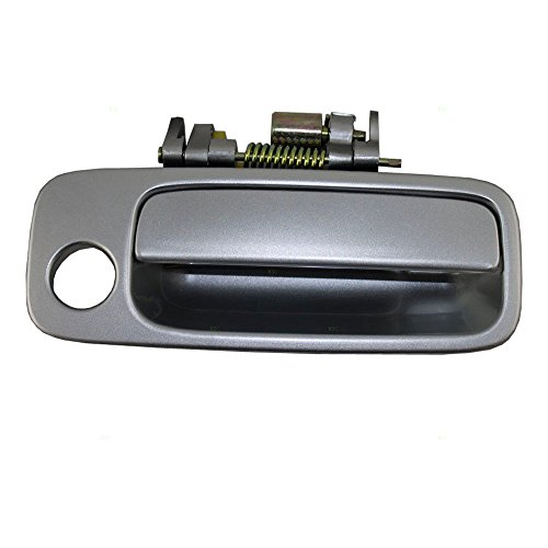 Door Front Replacement Passenger Side (Eynpire 8050 Exterior Outside Outer SILVER Replacement Front Right Passenger Side Door Handle For 97-01 Toyota Camry 97 98 99 00 01)
