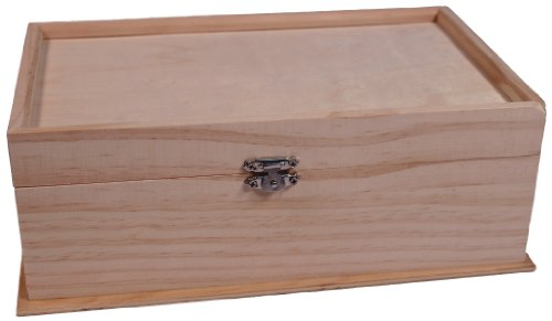 Wholesale Unfinished Wood - Unfinished Wood Jewelry Box w/ Mirror & Removable Compartments - Ready to Paint!