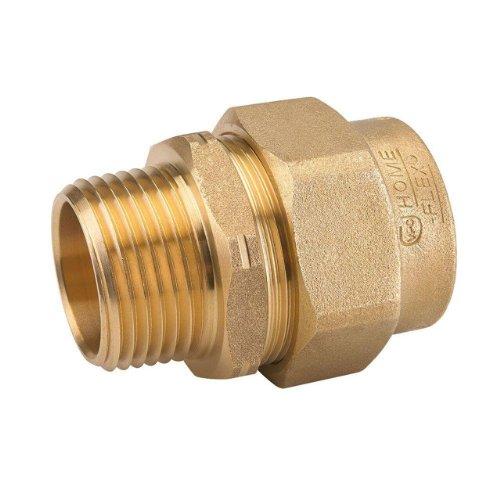 Homeflex  inch brass corrugated stainless