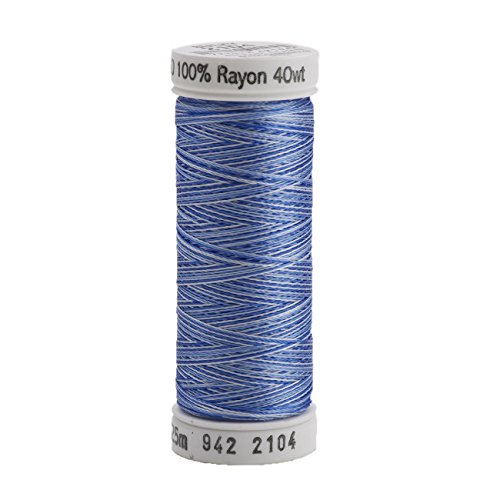 (Sulky Rayon Thread for Sewing, 250-Yard, Vari Pastel Blue)