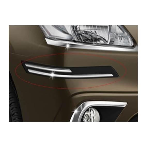 Easy4buy Rubber with Chrome Finish Car Bumper Protector Guard Moulding for Maruti Ertiga