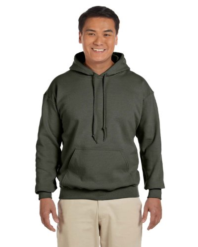 Gildan 18500 - Classic Fit Adult Hooded Sweatshirt Heavy Blend - First Quality - Military Green - X-Large