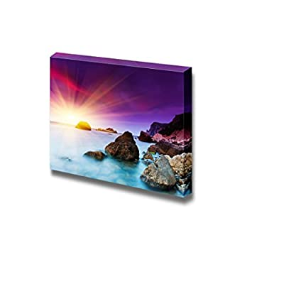 Canvas Prints Wall Art - Beautiful Summer Sunset Over The Sea. HDR Image - 16