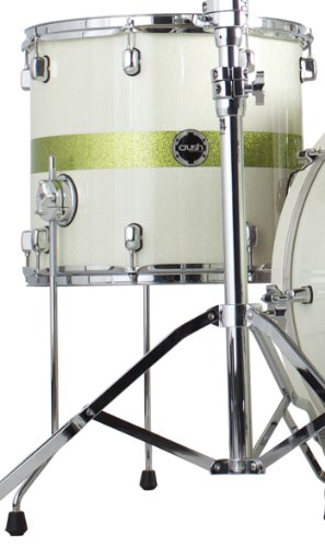 Crush Drums & Percussion S3M14X13-607 14-Inch Tom Tom, White/Lime Stripe Sparkle
