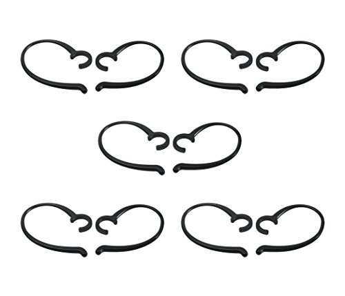Simolio Simolio Decompression Hanger Loops, Wireless TV Headset Replacement Clip Ear Hook for SM-823, SM-823D- 5 Pairs,Black price tips cheap
