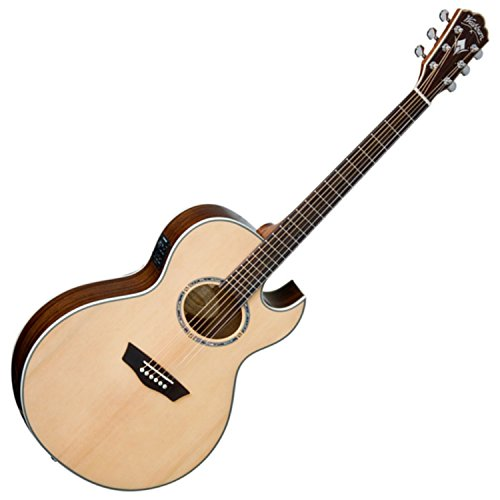 - Washburn USM-EA20SNB Nuno Signature Series Acoustic Electric Guitar, Natural