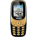 Inovu A1 Dual SIM Basic Mobile Phone (Black-Gold, Upto 32GB)