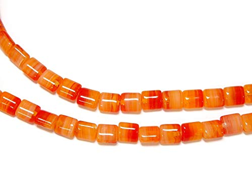 OutletBestSelling Beadwork Art Crafts Czechoslovakian Harvest Flame Hurricane Glass Beads Oblong 8/7mm