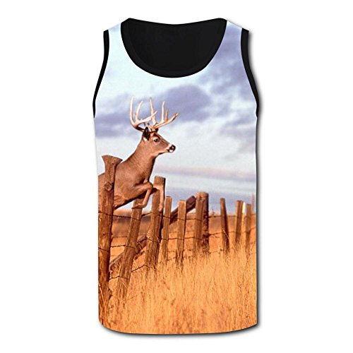 Gjghsj2 Leaping Deer Tank Top Vest Shirts Singlet