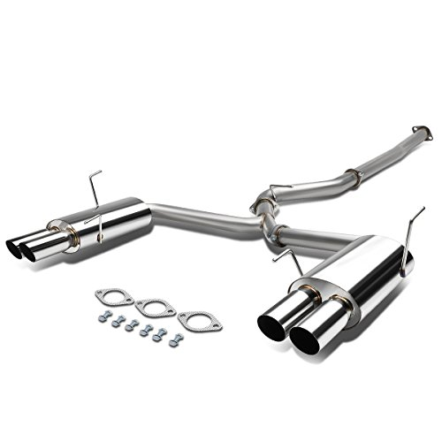 For 15-17 Subaru WRX/STI 3 inches Quad Muffler Tip Stainless Steel Catback Exhaust System