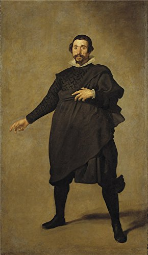 Oil Painting 'Velazquez Diego Rodriguez De Silva Y The Buffoon Pablo De Valladolid Ca. 1635 ' Printing On Polyster Canvas , 10 X 17 Inch / 25 X 44 Cm ,the Best Bedroom Artwork And Home Decor And Gifts Is This Imitations Art DecorativePrints On Canvas