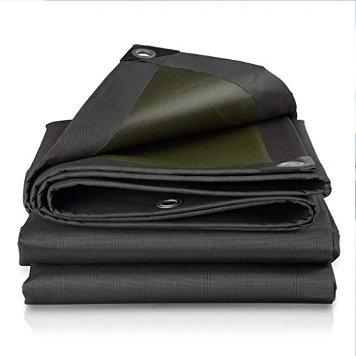 - Thickened Heavy Duty Poly Tarp ,Multi-Purpose Sunshade Rainproof Cloth Tarpaulin, Waterproof Sheet Cover Ground, Oxford cloth canvas Tarpaulin with Grommets and Reinforced Edges,550G / M²