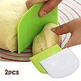 2Pcs Dough Pastry Scraper/Cutter/Chopper