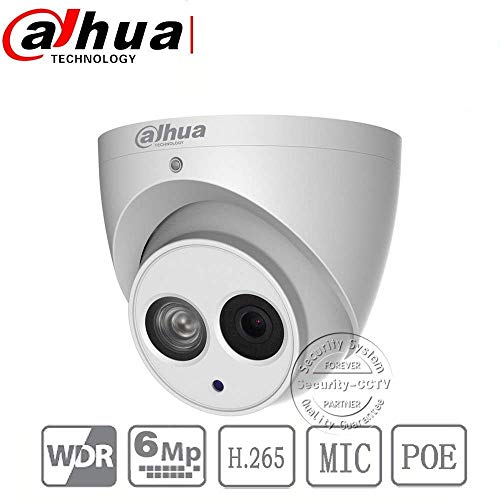 Mini Dome Color Surveillance Camera - Dahua Security Monitoring Camera IPC-HDW4631C-A 2.8mm HD 6MP POE Built-in Mic All Metal Eyeball Mini Dome IP Network Camera