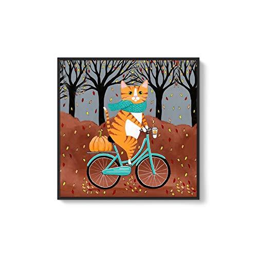Framed for Living Room Bedroom Cute Animal Theme for