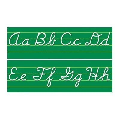 Alphabet Lines Contemporary Cursive Bulletin Board Cut Out by NORTH STAR TEACHER RESOURCE