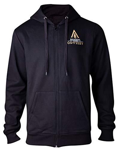 Men's Spartan Assassin's Sweatshirt Black Creed Hoodie Odyssey HCqqwIrt