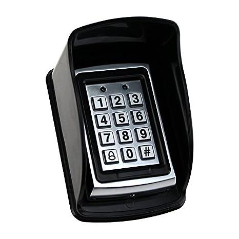 Wasserdichte Abdeckung Für Rfid Metal Access Control Keypad Regenschutz Schwarz