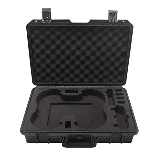 Heavy Military Spec Waterproof Compact Travel No-disassembly Large Storage Hard Carry Case Box for DJI Mavic Mini RC Drone (Black)