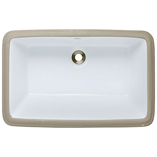 U1812-White Undermount Porcelain Bathroom Sink, Sink Only