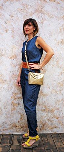 LA MINAUDIÈRE Gold Handtasche Vintage-Stil aus Leder Damentasche PAUL MARIUS