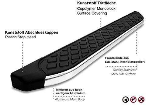 Trittbretter passend f/ür Isuzu D-Max ab Baujahr 2012 Model Hitit in Chrom mit T/ÜV und ABE