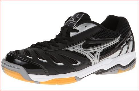 Mizuno Women's Wave Rally 5 Volley Ball Shoe,Black/Silver,13 M US